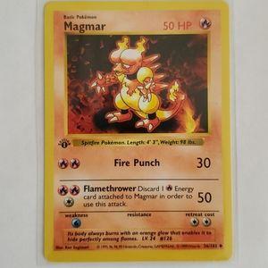 1st Edition Shadowless NM Magmar 36/102